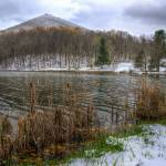 """Early snow at Abbot Lake in Virginia"" by mtn-images"