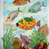 Fish Tales Down Under Art Prints & Posters by Carol Richardson