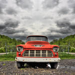 """57 Chevy Pick Up Truck-Rust on Metal"" by joegemignani"