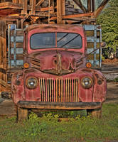 Old Ford Truck-Rust on Metal