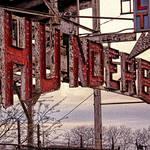 """""""Thunderbolt Sign-Rust on Metal"""" by joegemignani"""