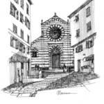 """Chiesa a Genova"" by lucamassonedisegni"