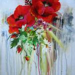 """Etude with Poppies"" by galina"