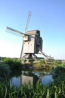Windmill in European Countryside