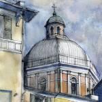 """Chiesa a Pegli"" by lucamassonedisegni"