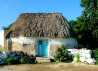 Typical rural home of the mayan descendants