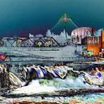 """""""Neon Lights of Spokane Falls"""" by Groecar"""