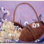 """Floral Basket"" by deannscottspaintings"