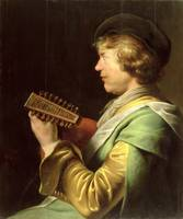 Young Man Playing the Lute