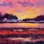 """""""Seaford Scallop Company, Sunset"""" by MelanieChambersHartman"""