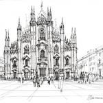 """""""Duomo di Milano - schizzo"""" by lucamassonedisegni"""