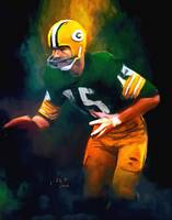 Bart Starr, NFL Green Bay Packers Painting