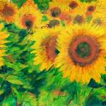 """Arles Sunflowers"" by Jackie-Sherwood-Artist"