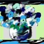 """""""Decorative Blue Layered Flowers"""" by JessieLee72"""