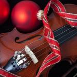 """Violin and red ornaments"" by photogarry"