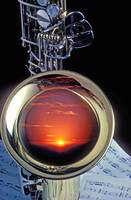 Sunset In Bell Of Sax