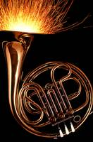 French Horn With Sparks