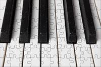 Piano keys jigsaw