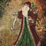 """""""Father Christmas Inspirational Art by Janelle Nich"""" by JanelleNichol"""