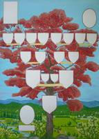Family tree chart Ruby-red tree