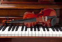 Violin on piano
