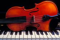 Violin On Piano Keys