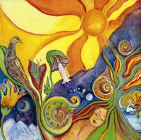 The Dream - Retro Poster Art - Nature - Sun - Bird