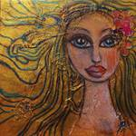 """Golden Dawn - Big Eye Art - Folk Art - Lysergia"" by lysergia"