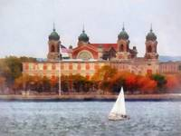 Sailboat by Ellis Island