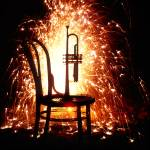 """Chair and horn with fireworks"" by photogarry"