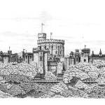 """Fantasy Windsor Castle (with fluffy edging)"" by Eris-Artwork"