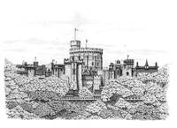 Fantasy Windsor Castle (with fluffy edging)