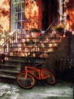 Orange Bicycle by Brownstone