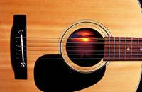 Sunset in guitar
