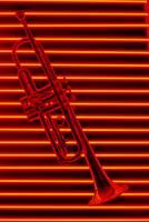 Trumpet and red neon