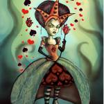 """Queen of Hearts"" by DianaLevinArt"