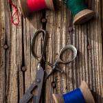"""Old scissors and spools of thread"" by photogarry"