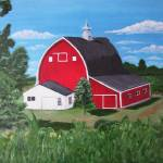"""Big Red Barn"" by jnavarroartwerx"