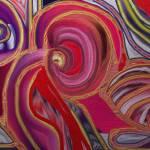 """Metallic abstract 005"" by artbyshesh"