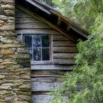 """Chimney Old Log Cabin"" by joegemignani"