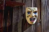 Mask on barn door