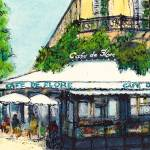 """Cafe de Flore, Paris"" by Jackie-Sherwood-Artist"