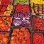 """Frutta Rossa, Italy"" by Jackie-Sherwood-Artist"