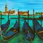 """Quattro Gondola, Venice"" by Jackie-Sherwood-Artist"