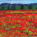 """Poppy Fields, Tuscany2"" by Jackie-Sherwood-Artist"