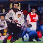 """Giggs Goal Celebration Manchester United v Arsenal"" by daverives"