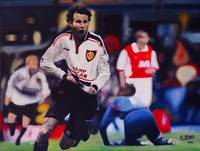 Giggs Goal Celebration Manchester United v Arsenal