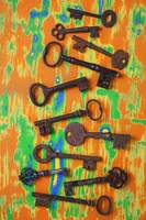 Old rusty keys