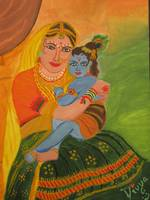 Lord Krishna with Yashoda