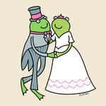 """""""Frog Wedding Couple"""" by zoe"""